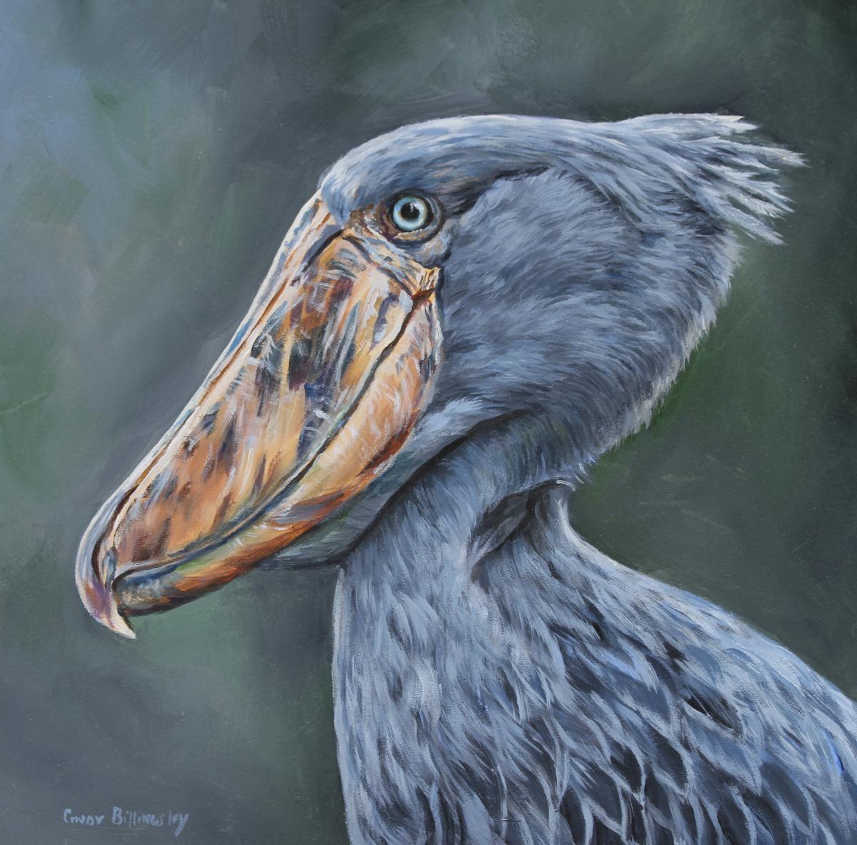 Shoebill Stork | Wallhanging by Cindy Billingsley | Artists for Conservation 2018