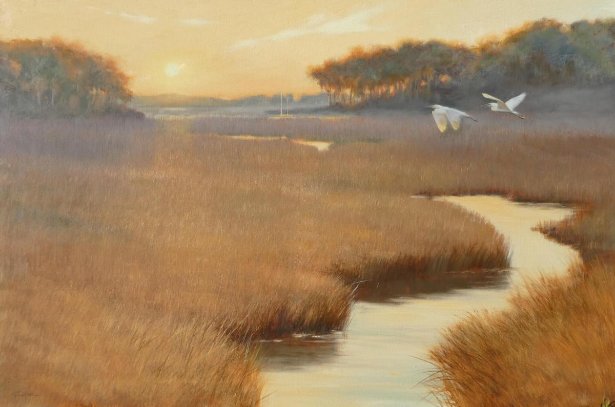 Evening Sojourn   Wallhanging by Mary Erickson   Artists for Conservation 2018