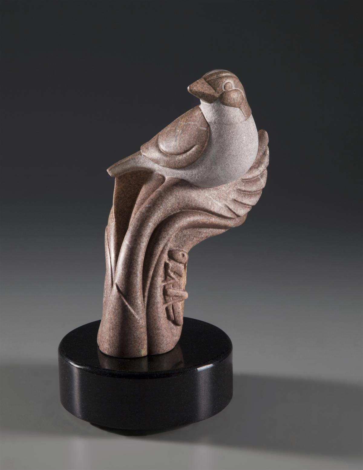 Tiny Sparrow, Huge Deal | Sculpture by Ellen Woodbury | Artists for Conservation 2018