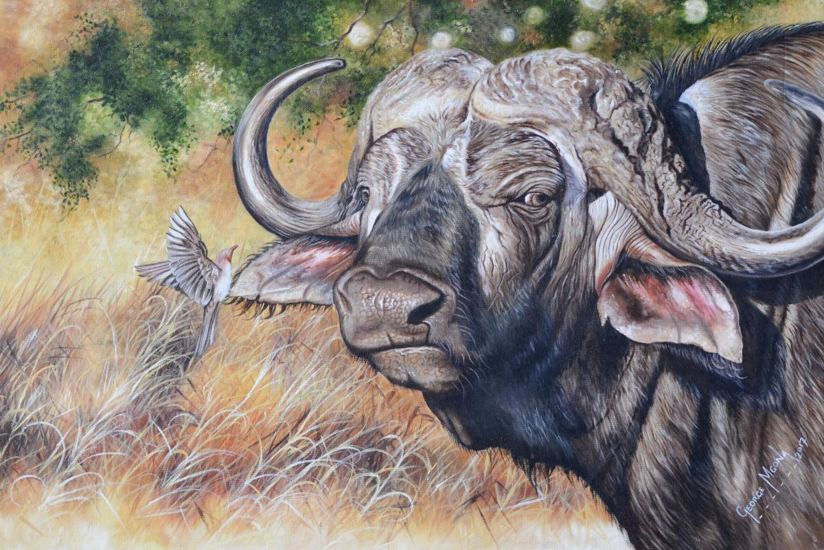 Together As One   Wallhanging by George Mgona   Artists for Conservation 2018