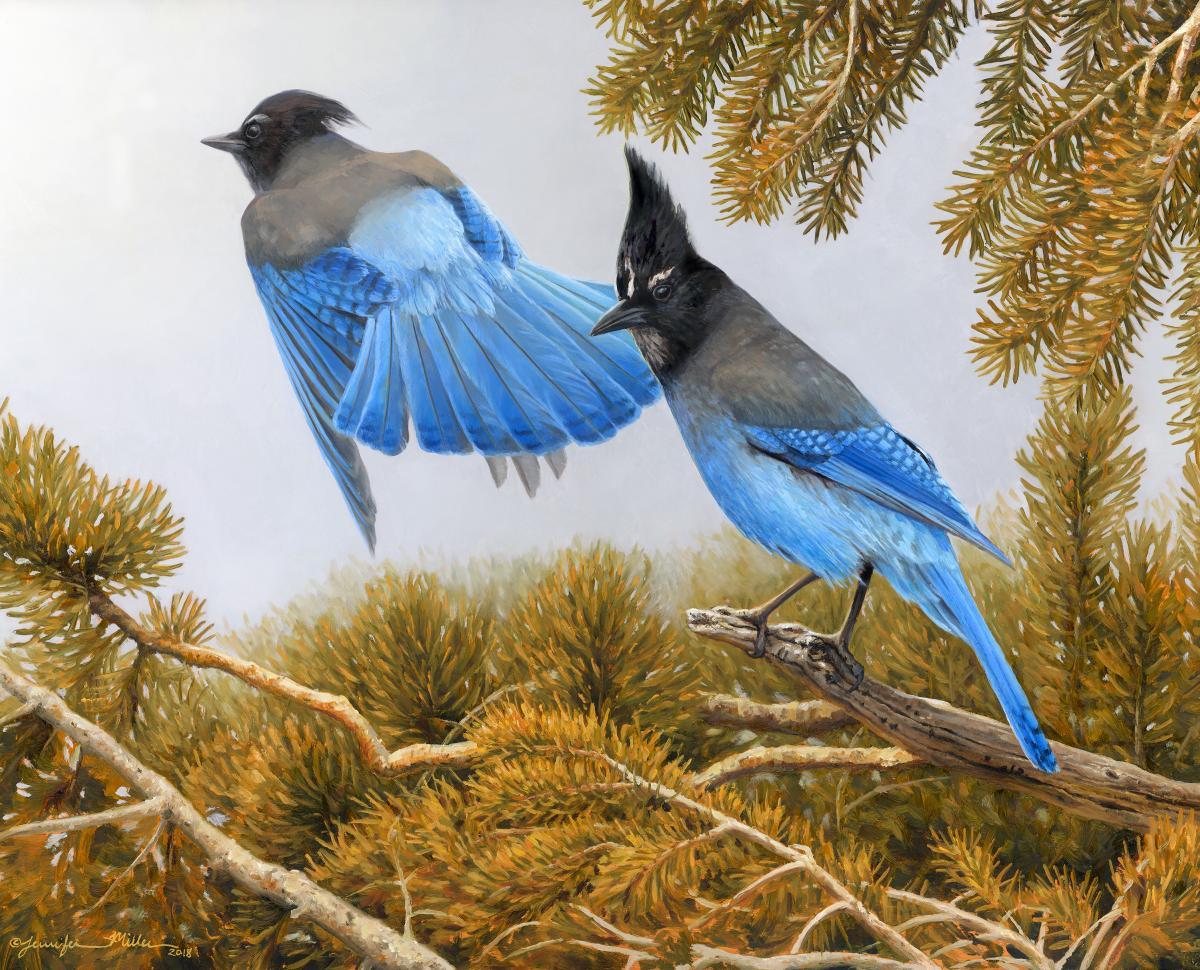 Conifer Consort | Wallhanging by Jennifer Miller | Artists for Conservation 2018