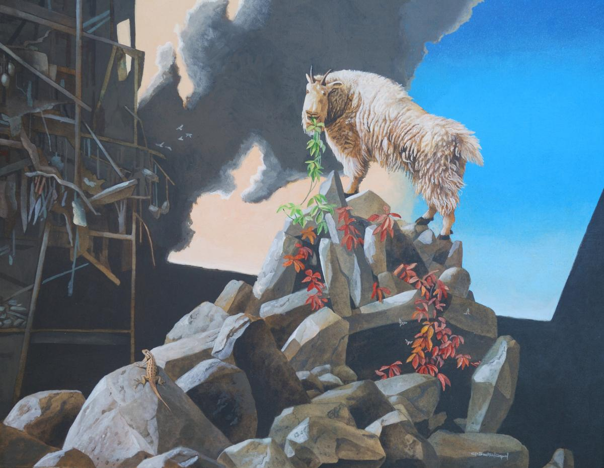 The Mountain | Wallhanging by Carel Brest van Kempen | Artists for Conservation 2018