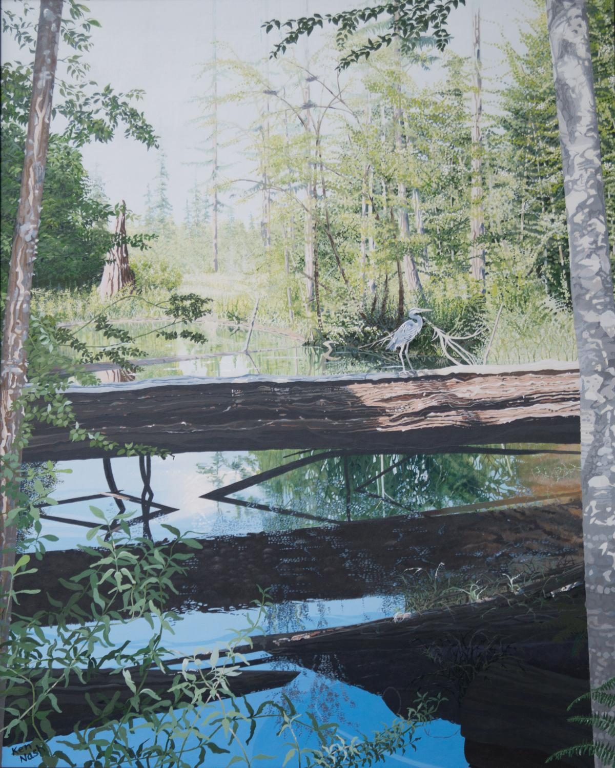 Pond Shadows | Wallhanging by Ken Nash | Artists for Conservation 2018
