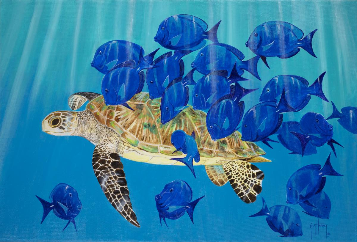 Doctor's Visit | Wallhanging by Guy Harvey | Artists for Conservation 2019