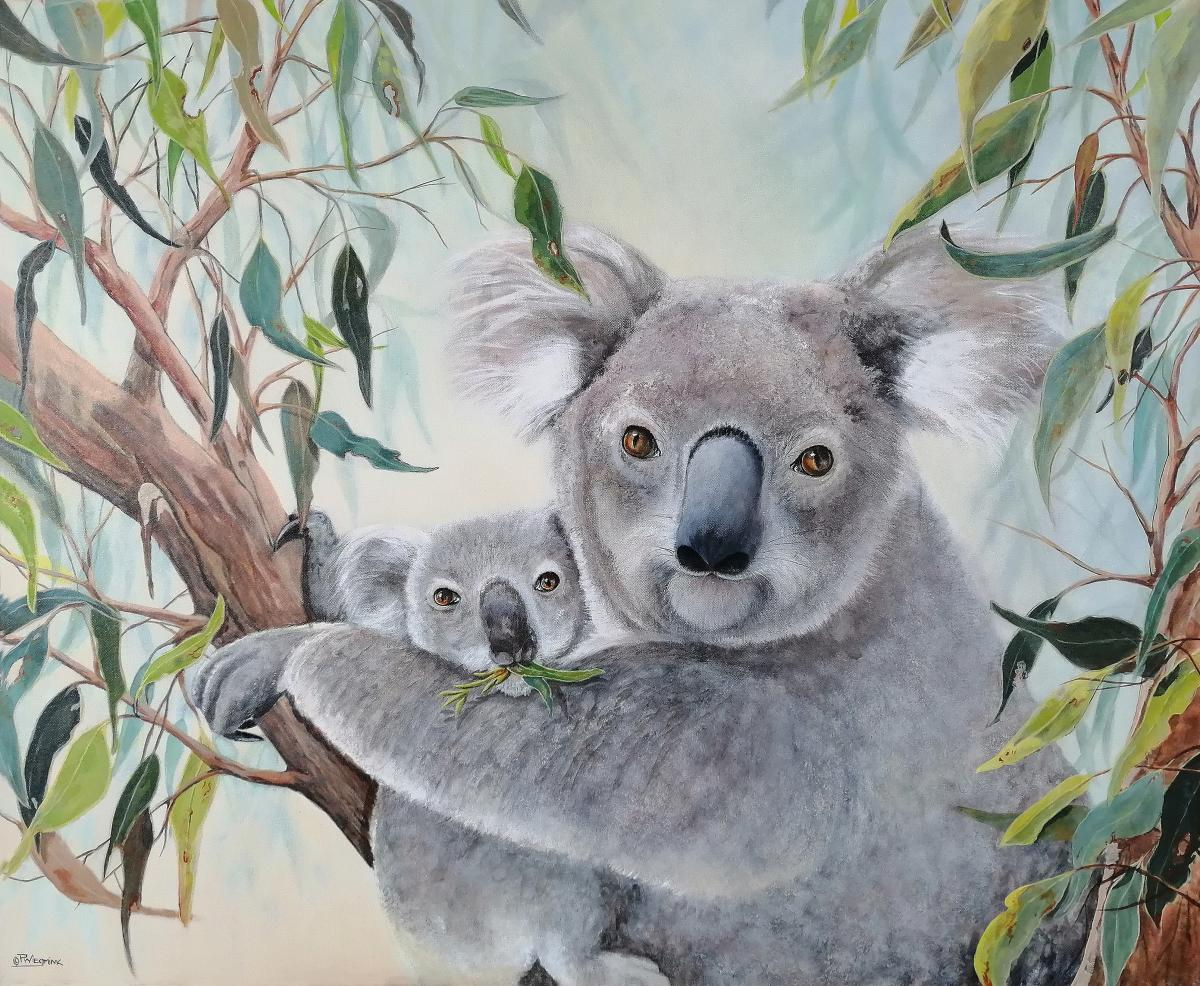Koala Comfort   Wallhanging by Paula Wiegmink   Artists for Conservation 2020