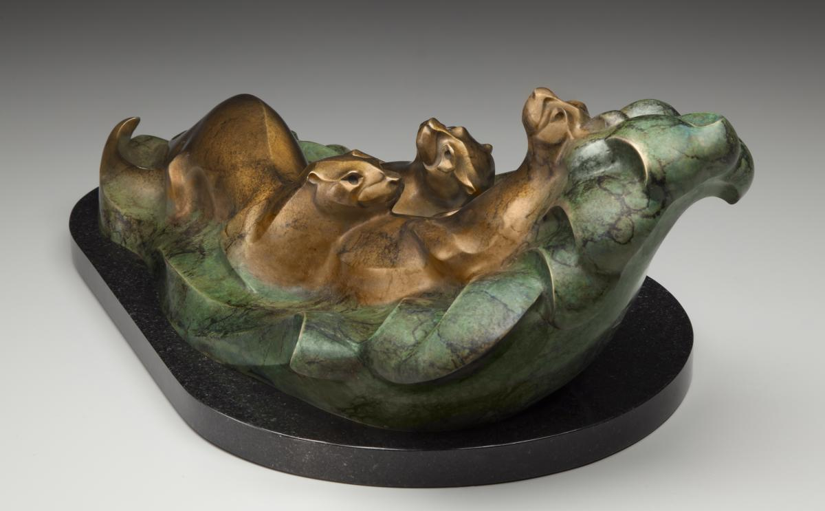 River Antics | Sculpture by Rosetta | Artists for Conservation 2020