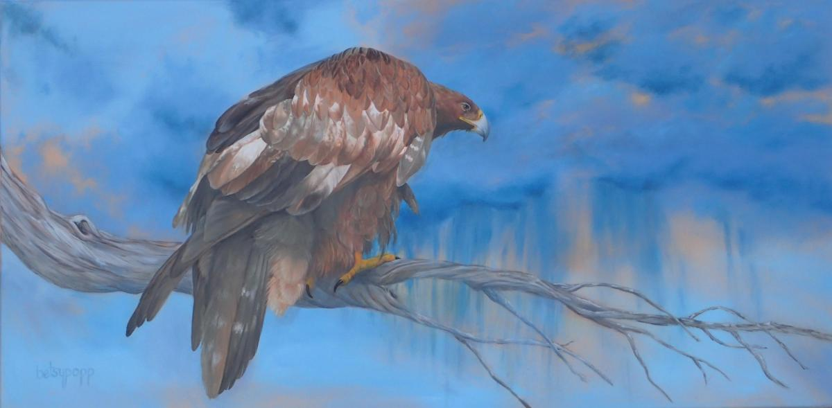 Facing the Storm | Wallhanging by Betsy Popp | Artists for Conservation 2020