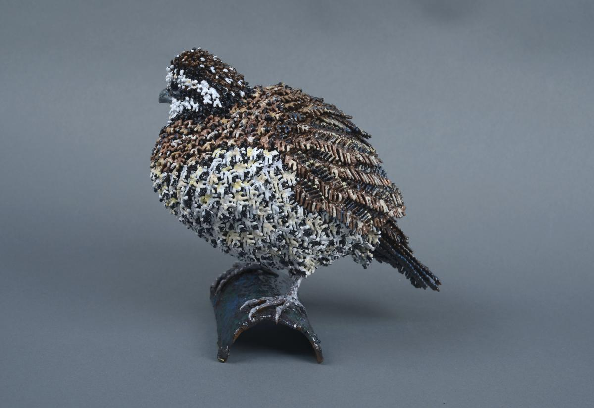 Northern Bobwhite | Sculpture by Mary Taylor | Artists for Conservation 2020