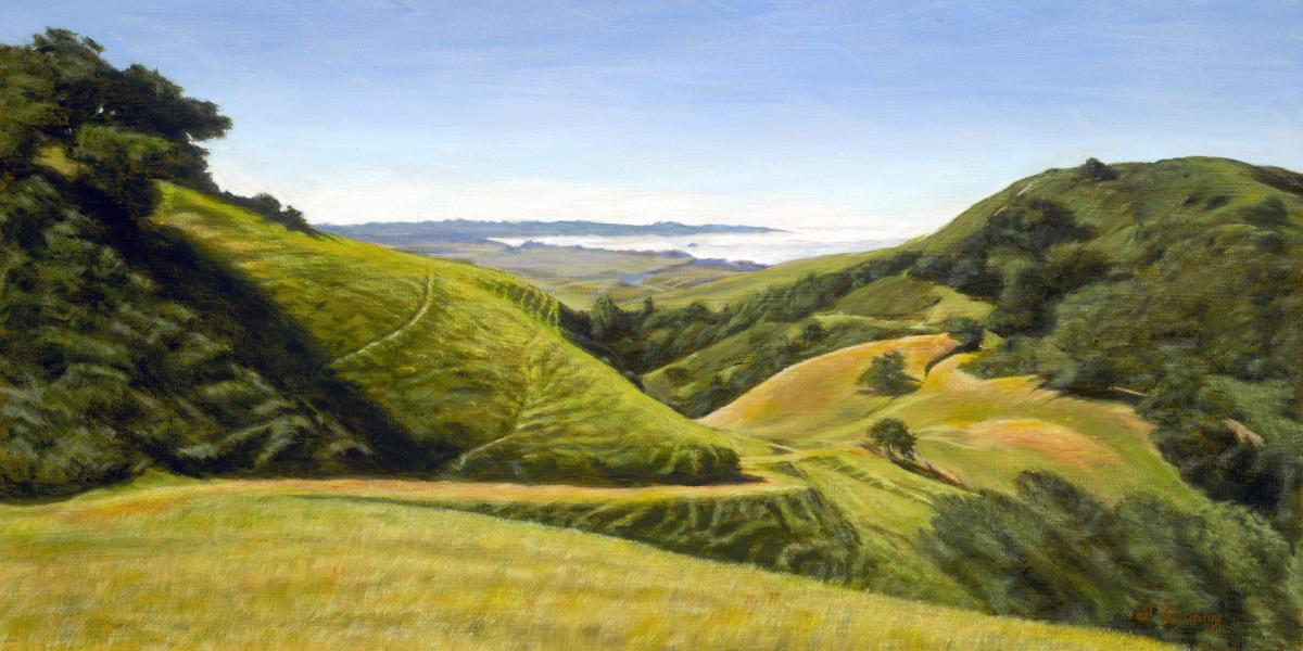 Above the Fog | Wallhanging by Dennis Curry | Artists for Conservation 2020