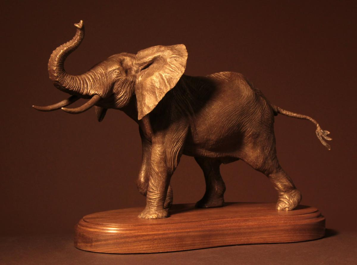 Young Bull                                                | Sculpture by Douglas Aja | Artists for Conservation 2020