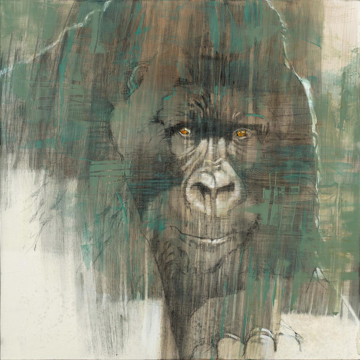 Watcher of Virunga | Wallhanging by Anne London | Artists for Conservation 2020