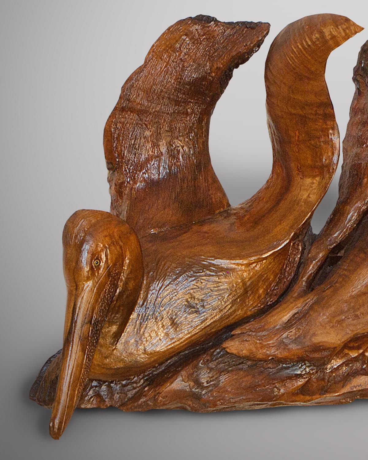 Pelican's Coast | Sculpture by Terry Woodall | Artists for Conservation 2020