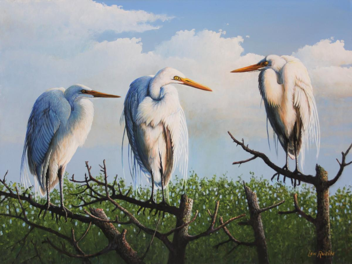 Partners in Crime | Wallhanging by Len Rusin | Artists for Conservation 2020