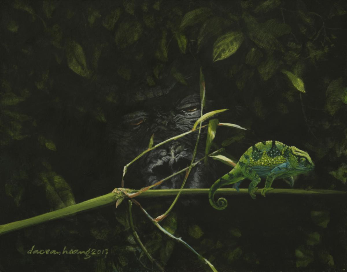 Chameleon | Wallhanging by van Hoang Dao | Artists for Conservation 2020