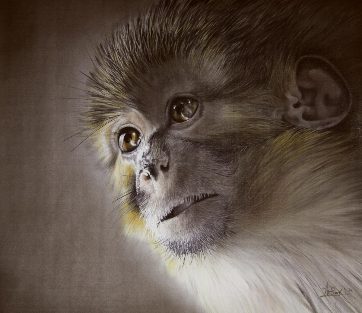 Monkey's Night | Wallhanging by Ute Bartels | Artists for Conservation 2020