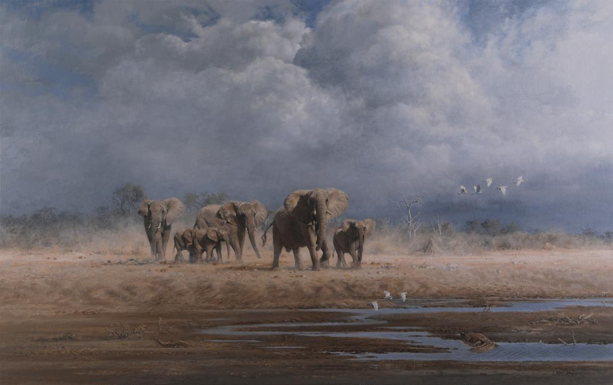 Safe Distance | Wallhanging by Peter Gray | Artists for Conservation 2020