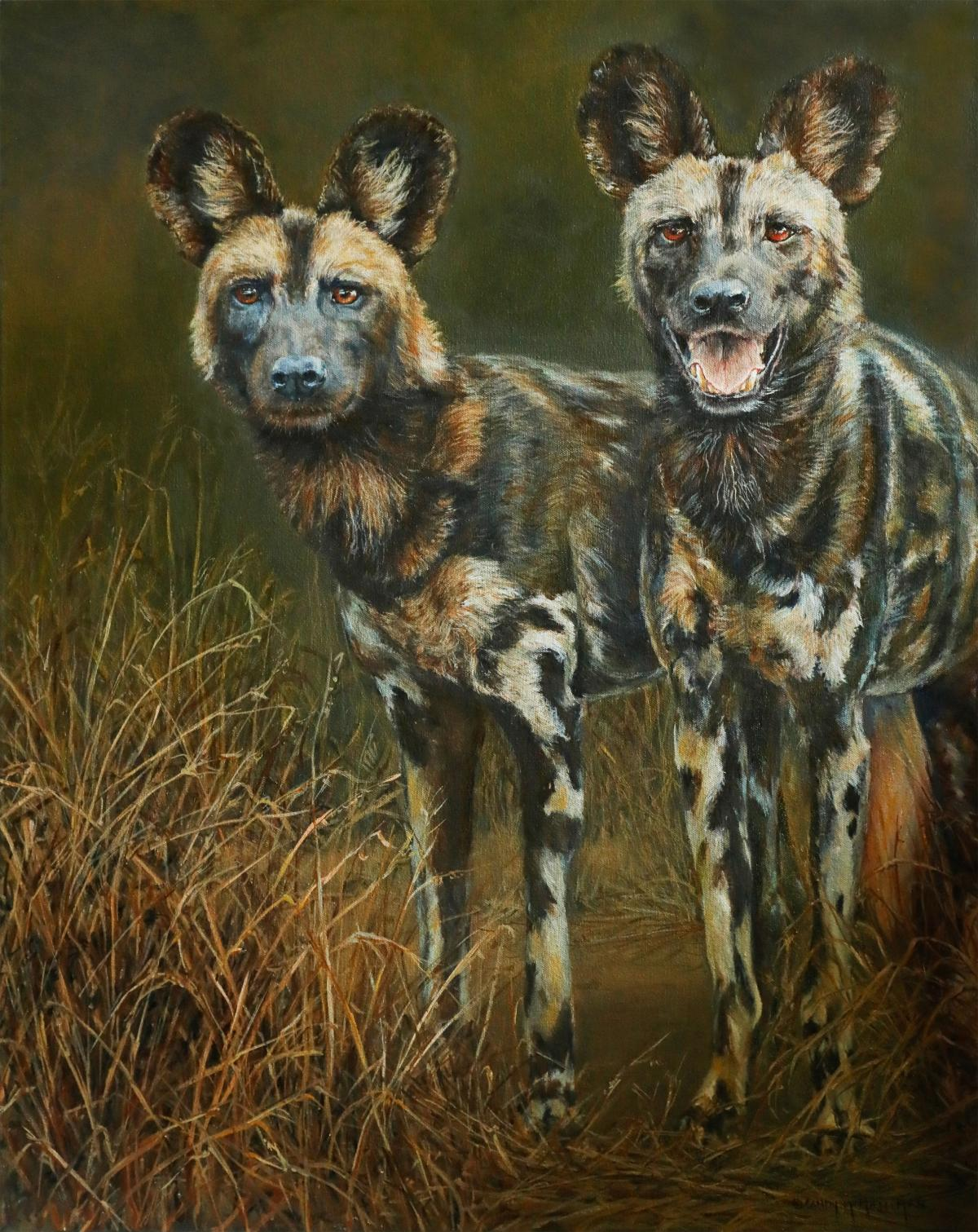 Lycaon pictus - Still Endangered | Wallhanging by Candy McManiman | Artists for Conservation 2020