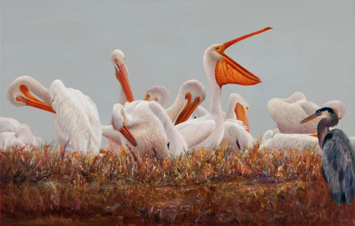 Preening | Wallhanging by Jerry Venditti | Artists for Conservation 2020