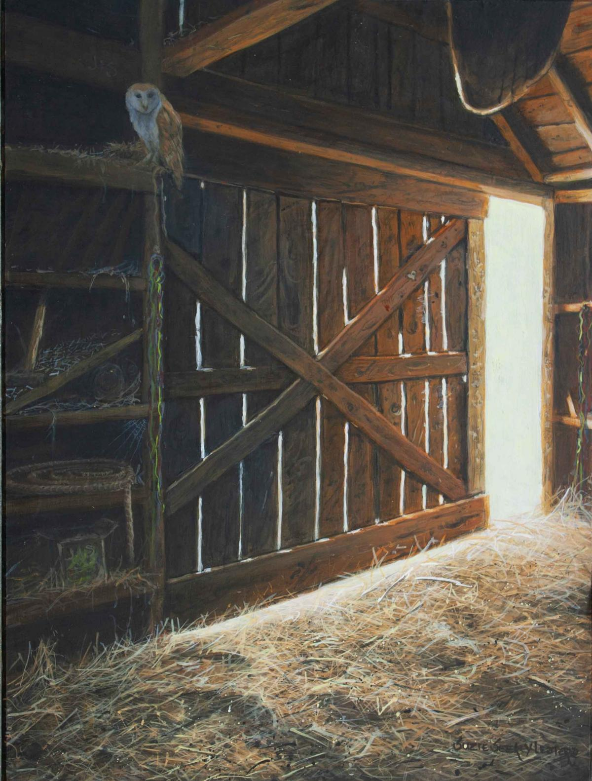 Barn's Early Light | Wallhanging by Suzie Seerey-Lester | Artists for Conservation 2021