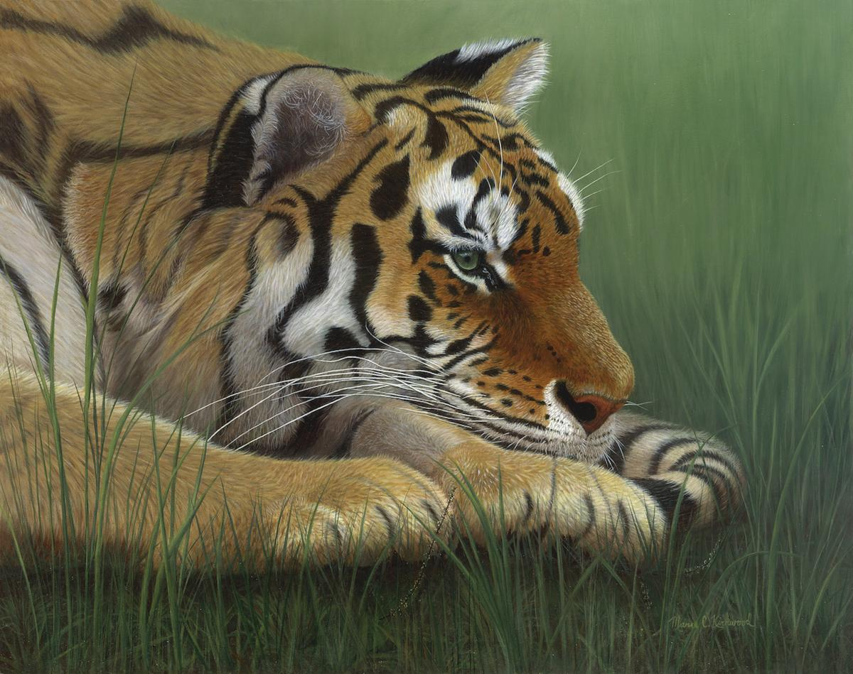 Tiger Trance | Wallhanging by Marie Kirkwood | Artists for Conservation 2021