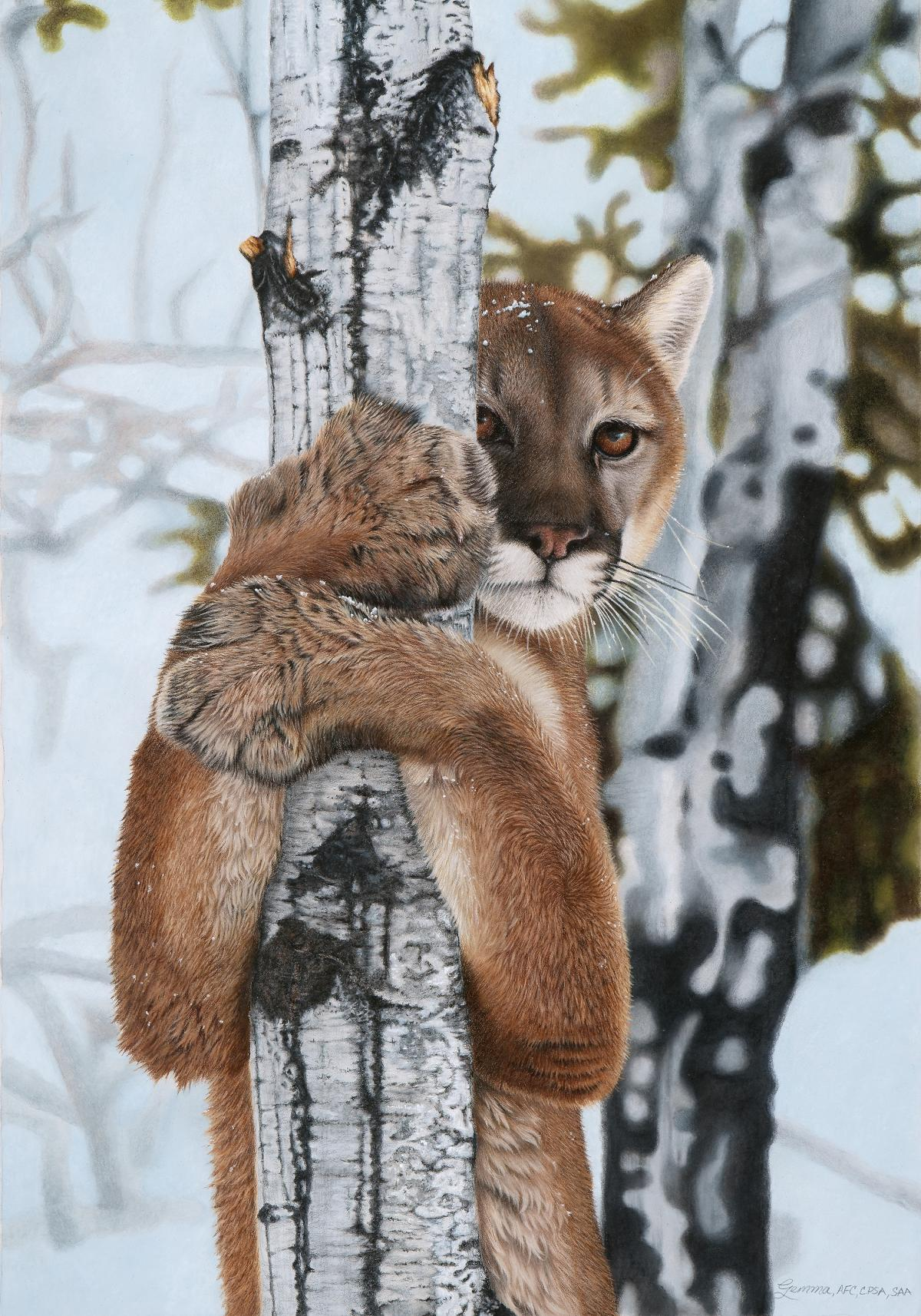 A Sudden Encounter | Wallhanging by Gemma Gylling | Artists for Conservation 2021