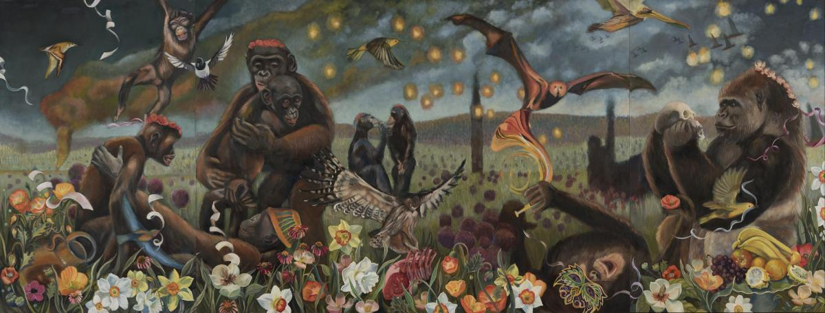 In Memoriam of the Krefeld Zoo Fire | Wallhanging by Sharon Sayegh | Artists for Conservation 2021