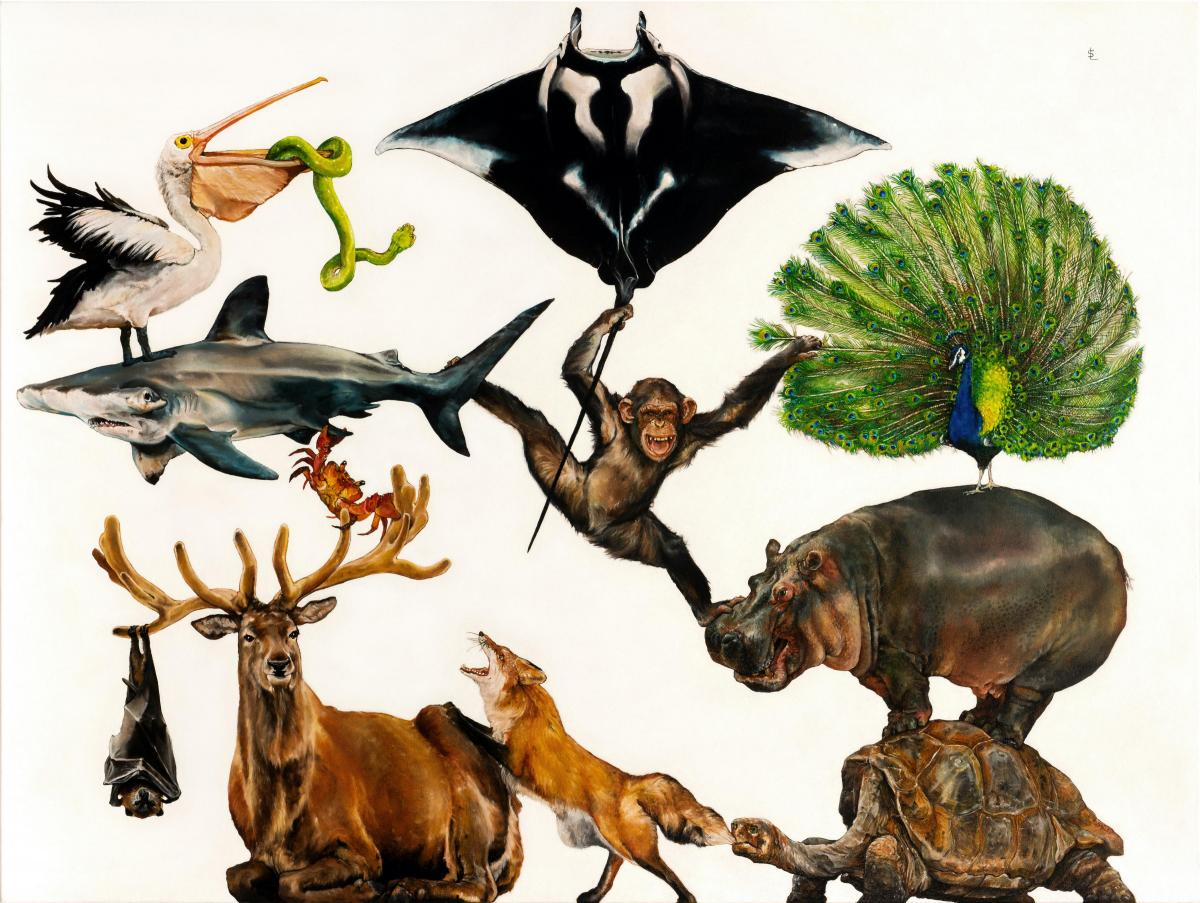 World Wild Web   Wallhanging by Sailev   Artists for Conservation 2021