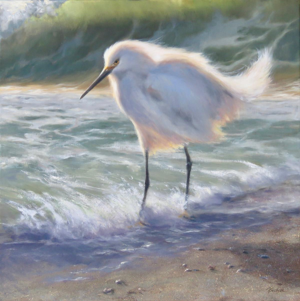 Snowy Surf   Wallhanging by Mary Erickson   Artists for Conservation 2021