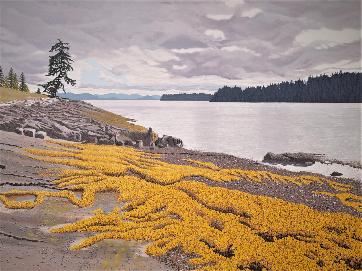Sargassum Gold | Wallhanging by Ken Nash | Artists for Conservation 2021