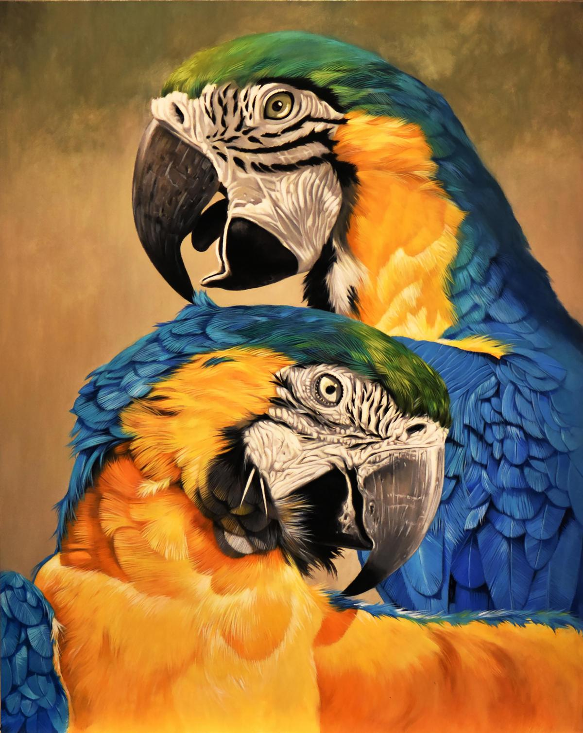 A Gentle Kiss | Wallhanging by Cathy Weiss | Artists for Conservation 2021