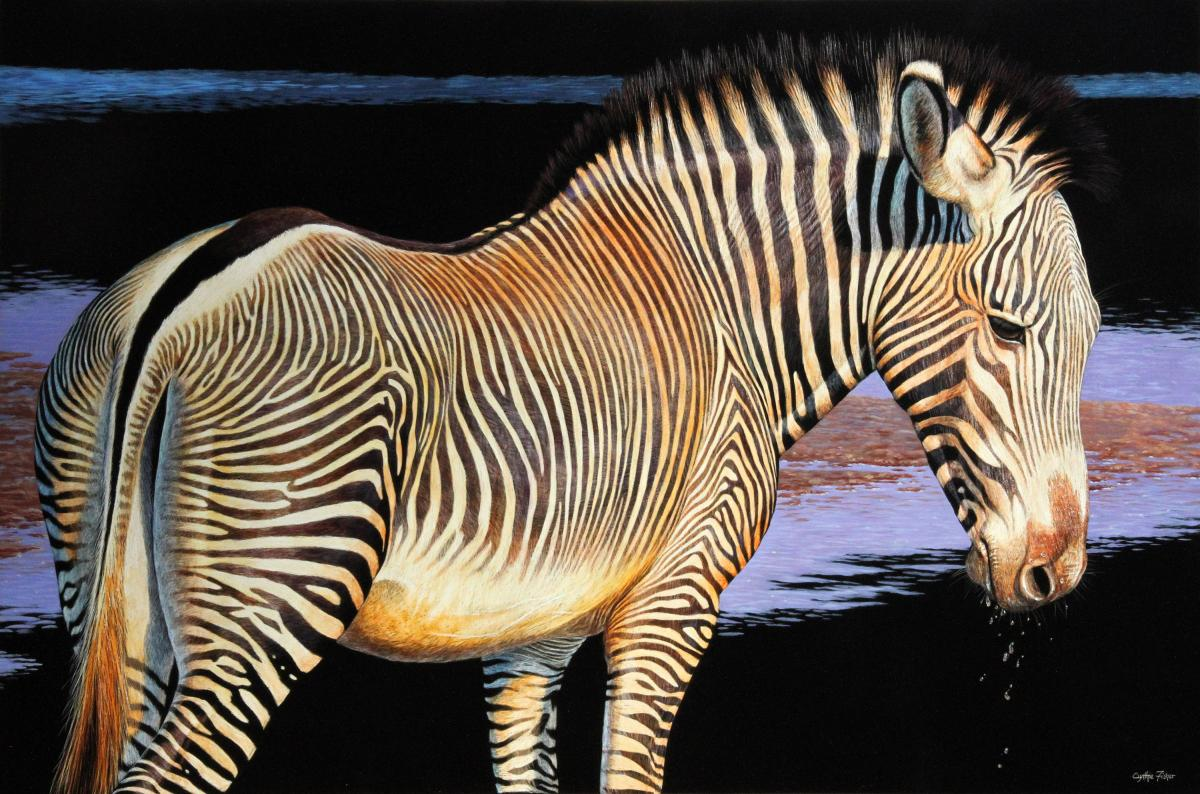 Endangered--Grevy's Zebra   Wallhanging by Cynthie Fisher   Artists for Conservation 2021