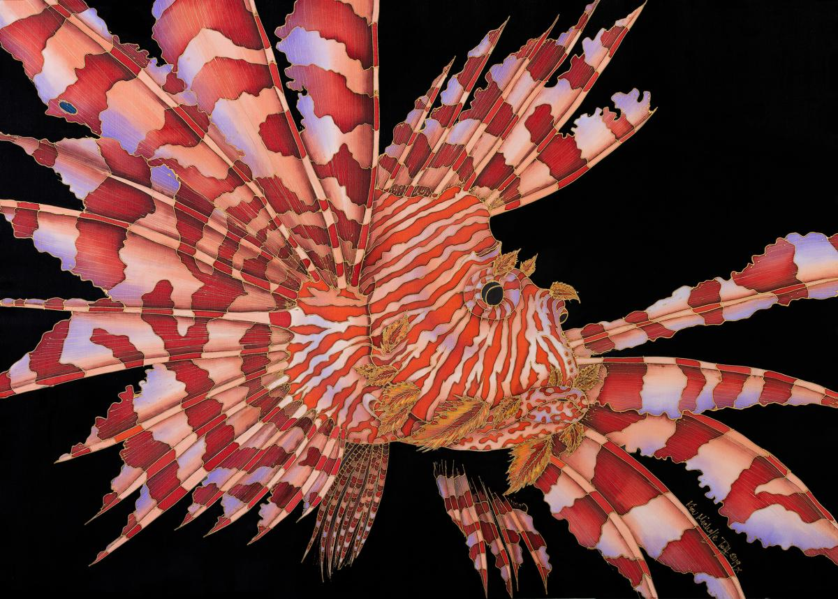 A Portrait Of A Lionfish | Wallhanging by Kim Toft | Artists for Conservation 2021