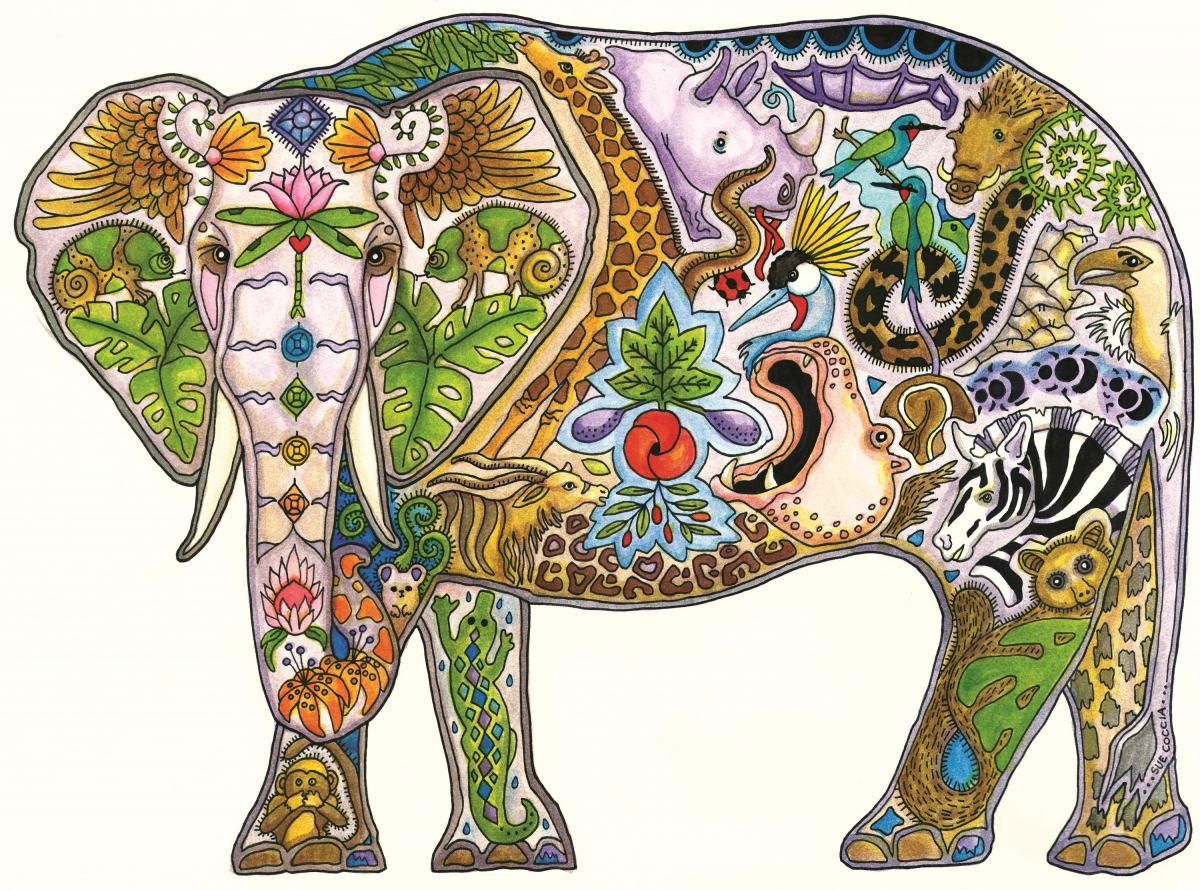 Elephant Mabula | Wallhanging by Sue Coccia | Artists for Conservation 2021