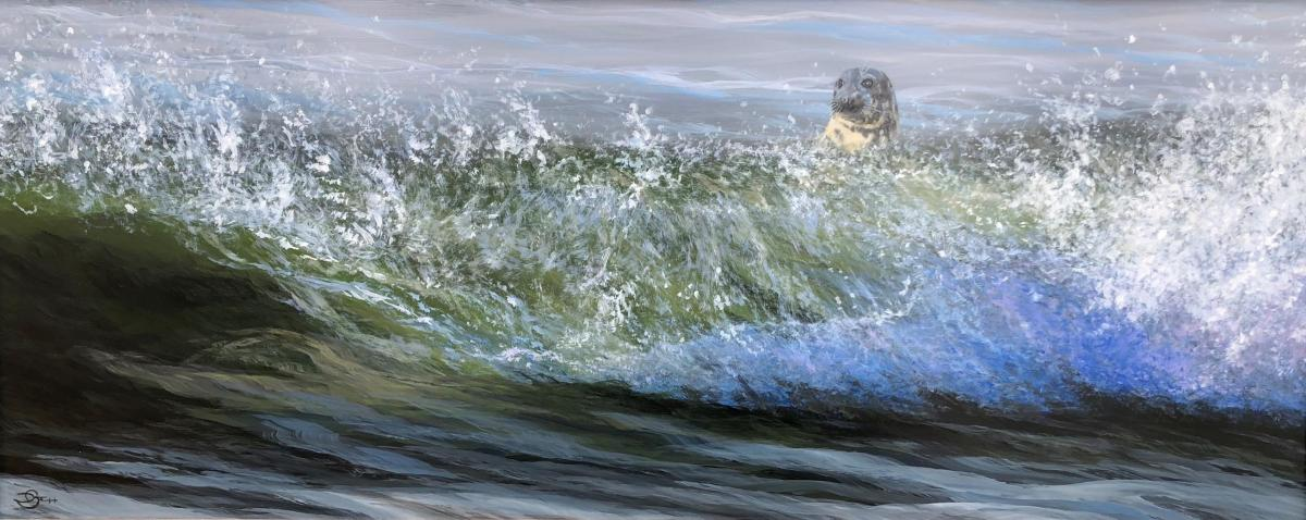 Little Surfer Girl | Wallhanging by Del-Bourree Bach | Artists for Conservation 2021
