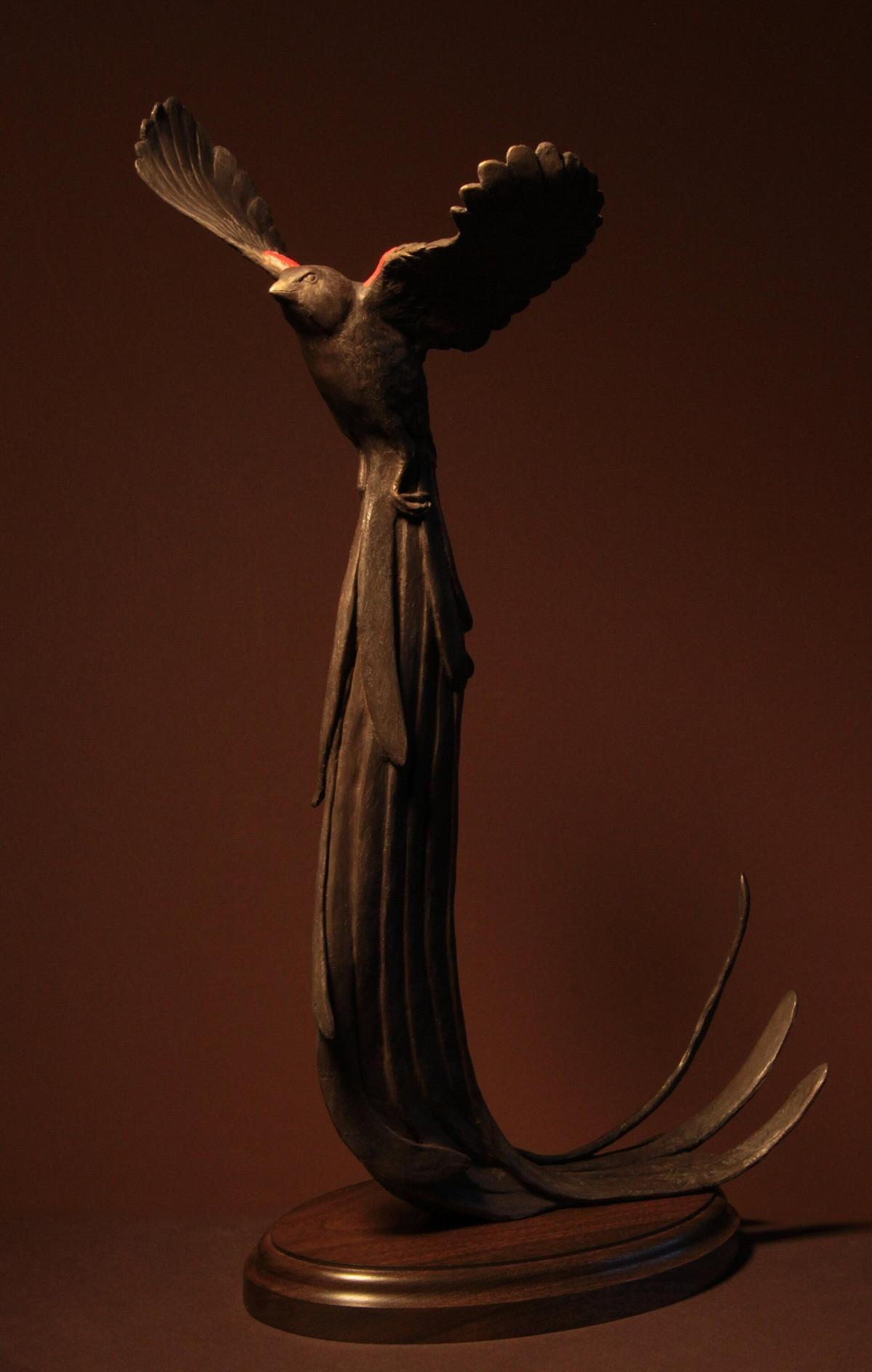 Long-tailed Widowbird   Sculpture by Douglas Aja   Artists for Conservation 2021