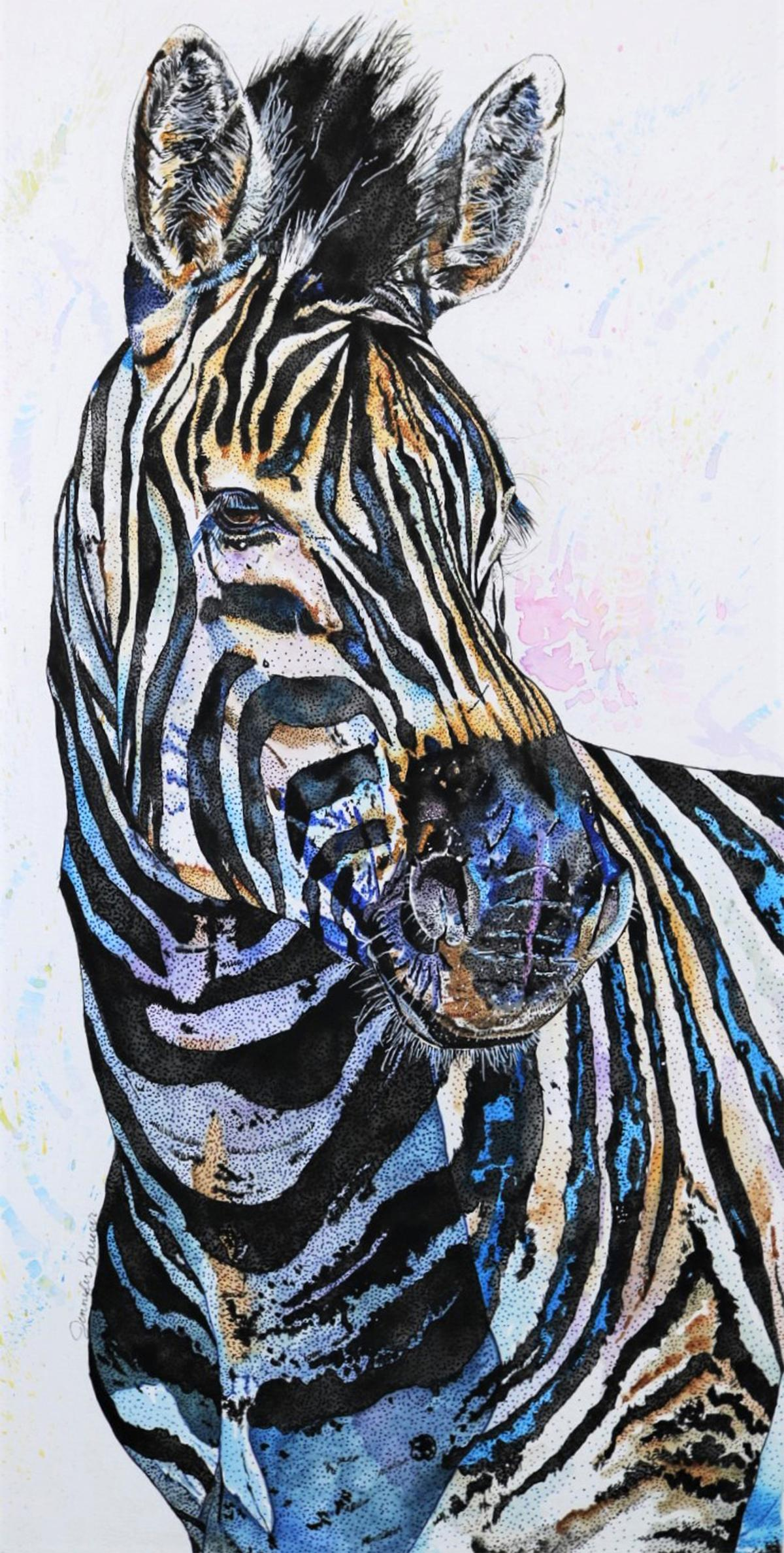 Not So Black and White   Wallhanging by Jennifer Krueger   Artists for Conservation 2021