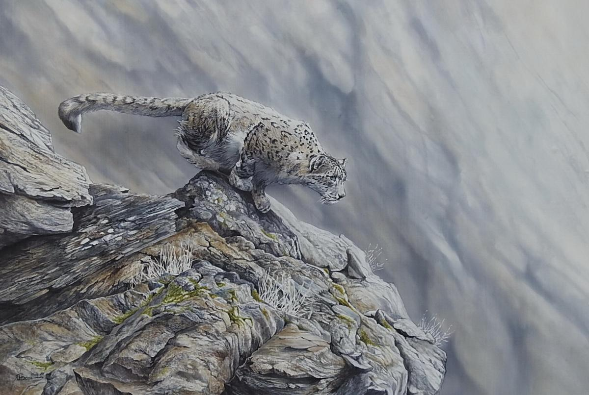 Himalaya Moments | Wallhanging by Ute Bartels | Artists for Conservation 2021