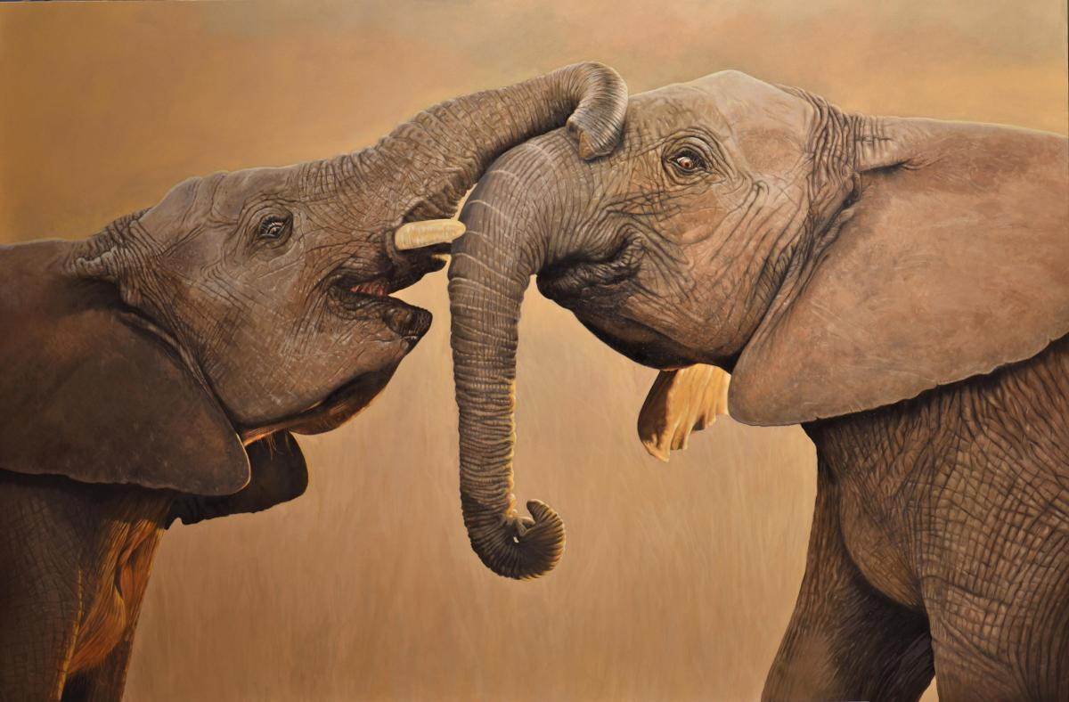 Best Friends | Wallhanging by Cathy Weiss | Artists for Conservation 2021