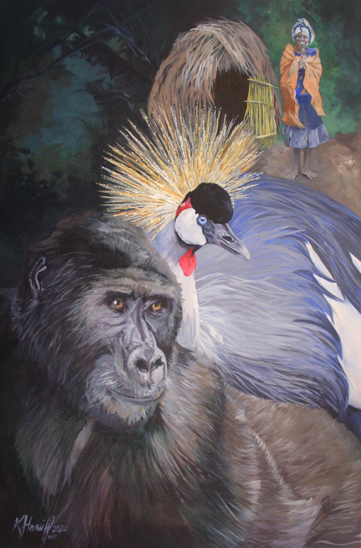 Believing in Bwindi | Wallhanging by Kitty Harvill | Artists for Conservation 2021