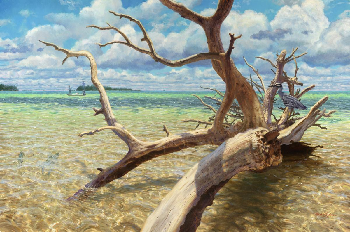 Shallow Water Hunters | Wallhanging by Mark Susinno | Artists for Conservation 2021