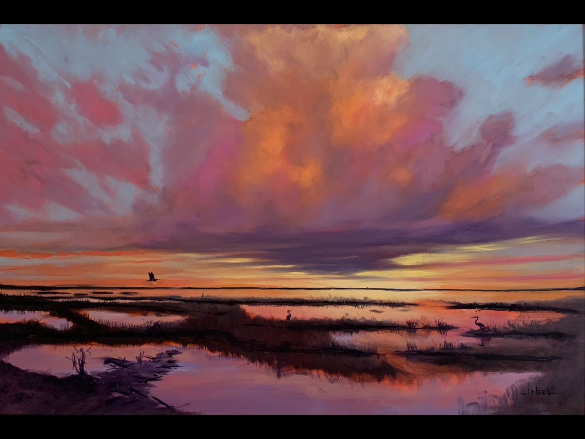 Rising Sun, Falling Tide, Copano Bay   Wallhanging by Jeffrey McDaniel   Artists for Conservation 2021