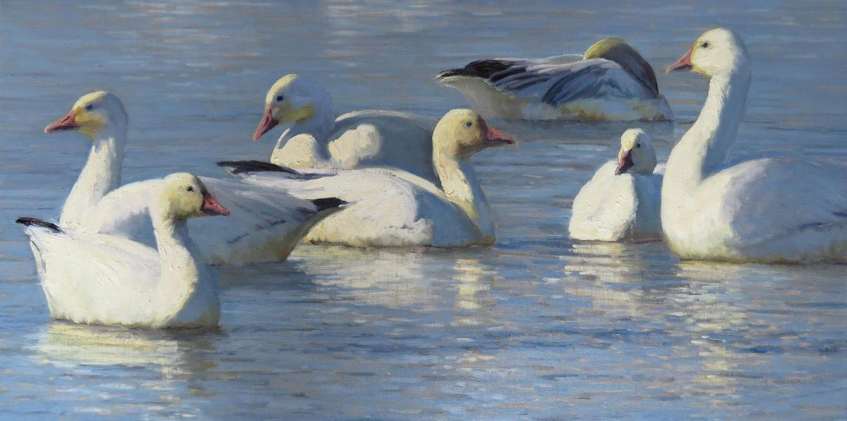 Winter Waters   Wallhanging by Kathleen Dunphy   Artists for Conservation 2021