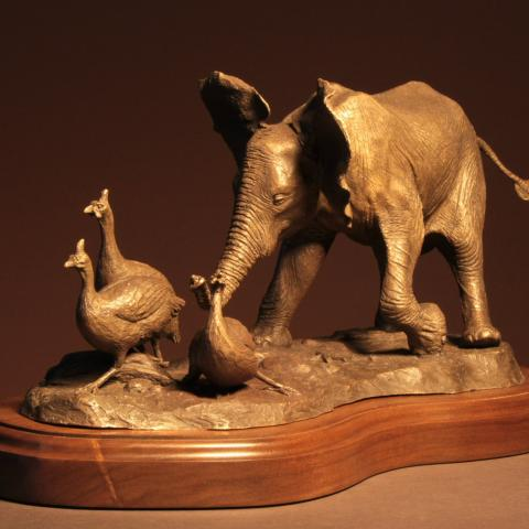 Just Having Fun   Sculpture by Douglas Aja   Artists for Conservation 2020
