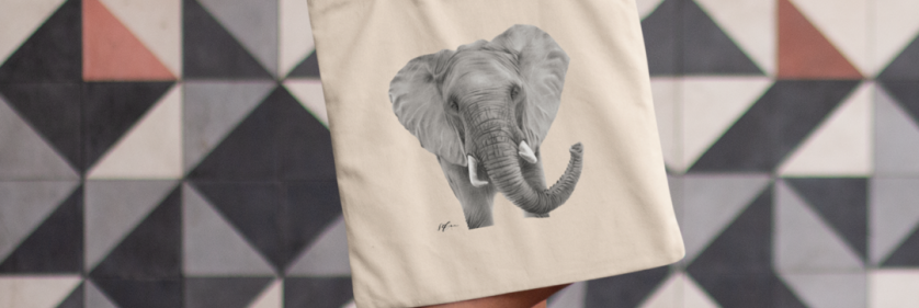 <em>Edit Conservation Project/Cause</em> IFAW Limited Edition Earth Day Shopper - Raising money for conservation and wildlife protection | Sophie Green