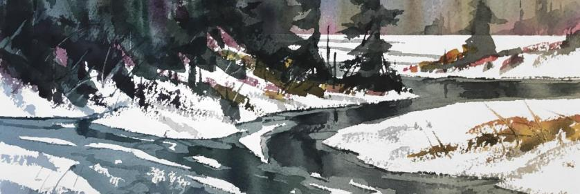 God Made Winter for Watercolor©, Shanika Studio, Woodland Park, Colorado with David Rankin