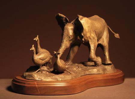 Just Having Fun | Sculpture by Douglas Aja | Artists for Conservation 2020