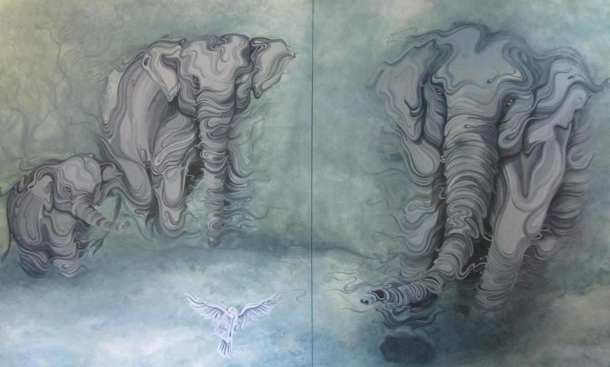 | Wallhanging by Christine Das | Artists for Conservation