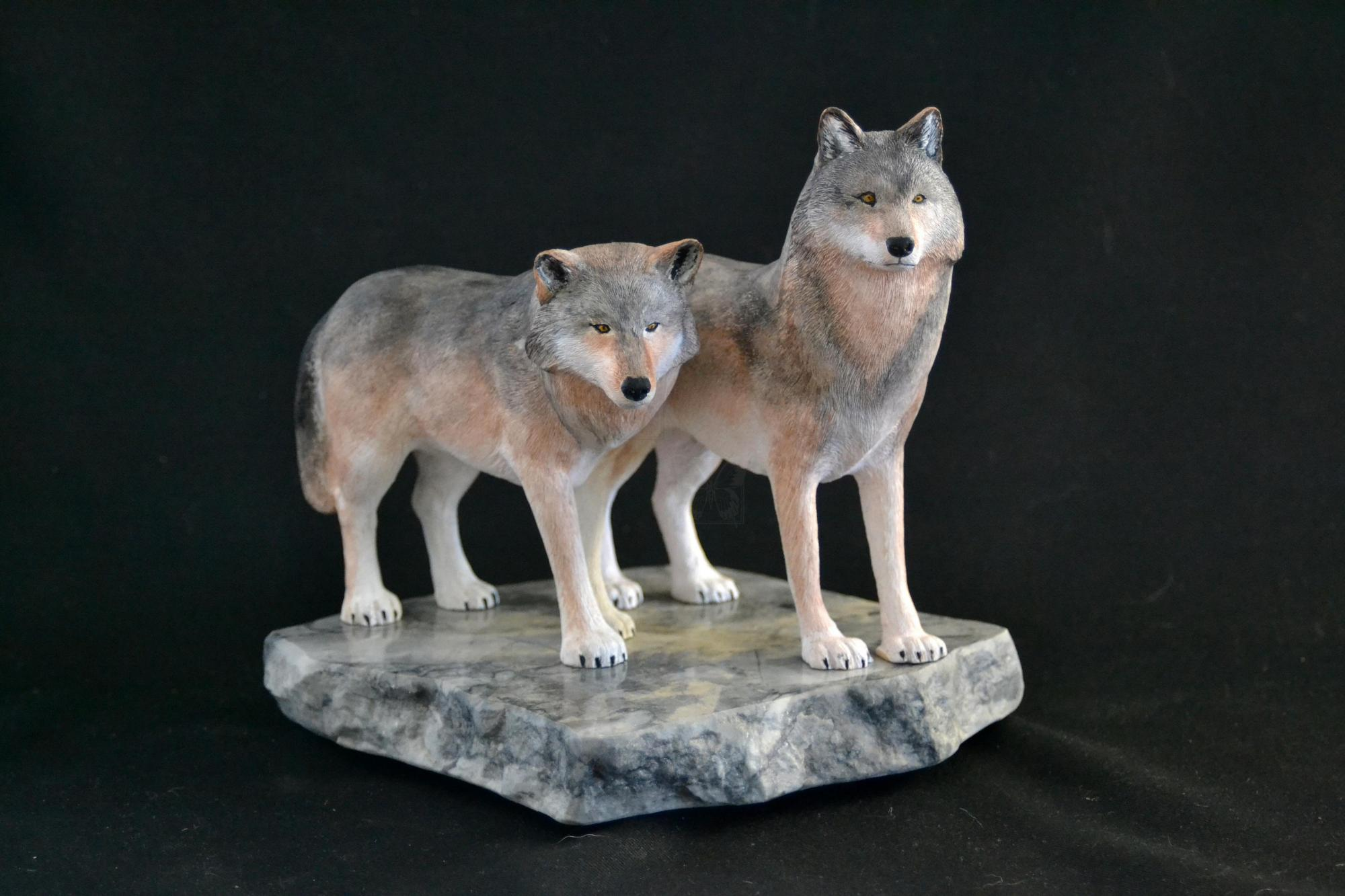 Paired For Life | Sculpture by David Bruce Johnson | Artists for Conservation 2021