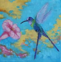 Scissor-tailed Hummingbird by AFC