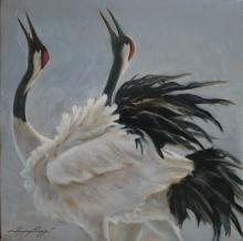 Siberian Crane, Siberian White Crane, Snow Crane by AFC